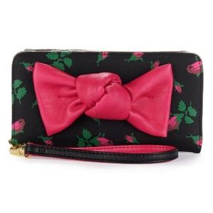 Betsey Johnson Wallet Bow Double Entry